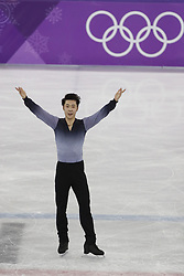 February 17, 2018 - Pyeongchang, KOREA - Boyang Jin of China competing in the men's figure skating free skate program during the Pyeongchang 2018 Olympic Winter Games at Gangneung Ice Arena. (Credit Image: © David McIntyre via ZUMA Wire)