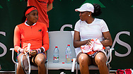 Venus Williams and Cori Gauff of the United States in action during their first round doubles match at the Roland-Garros 2021, Grand Slam tennis tournament on June 2, 2021 at Roland-Garros stadium in Paris, France - Photo Rob Prange / Spain ProSportsImages / DPPI / ProSportsImages / DPPI