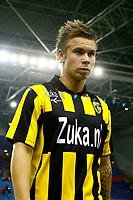 Fotball<br /> Nederland<br /> Foto: Proshots/Digitalsport<br /> NORWAY ONLY<br /> <br /> arnhem, 24-10-2010, vitesse - utrecht 1-4<br /> Marcus Pedersen baalt omdat hij verloor bij zijn debuut