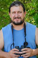 Ranger and field officer Todor Mitkov, wildlife watching, ecotourism, Plevun, Eastern Rhodope mountains, Bulgaria