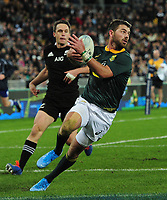 Rugby Union - 2019 Rugby Championship - New Zealand vs. South Africa<br /> <br /> Willie le Roux os S Africa, at Westpac Stadium, Wellington.<br /> <br /> COLORSPORT/ANDREW COWIE