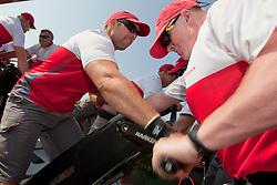 RR2. Artemis Racing (SWE) vs. Mascalzone Latino Audi Team (ITA). Dubai, United Arab Emirates, November 22nd 2010. Louis Vuitton Trophy  Dubai (12 - 27 November 2010)  Sander van der Borch / Artemis Racing