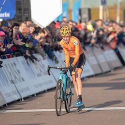 04-11-2018: Wielrennen: EK veldrijden: Rosmalen<br />Pim Ronhaar pakt de Europese titel in het veldrijden bij de junioren