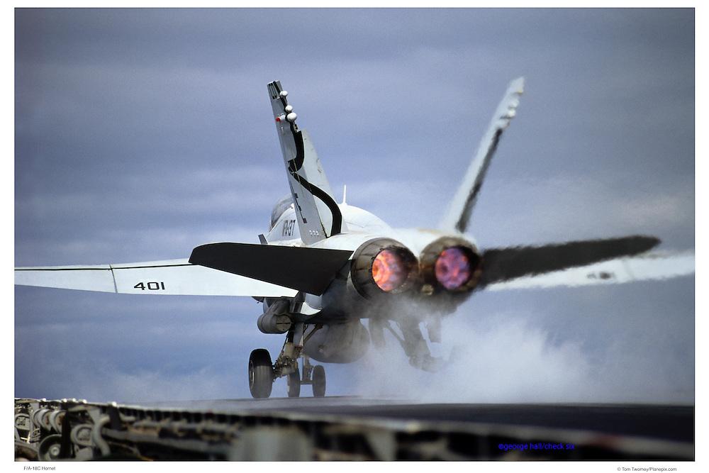 F/A-18C Hornet on catapult