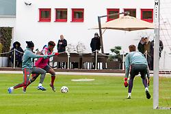 14.03.2019, Säbener Strasse, Muenchen, GER, 1. FBL, FC Bayern Muenchen vs 1. FSV Mainz 05, Training, im Bild v.l. Alphonso Davies (FC Bayern), Kingsley Coman (FC Bayern), Christian Früchtl (FC Bayern) // during a trainings session before the German Bundesliga 26th round match between FC Bayern Muenchen and 1. FSV Mainz 05 at the Säbener Strasse in Muenchen, Germany on 2019/03/14. EXPA Pictures © 2019, PhotoCredit: EXPA/ Lukas Huter