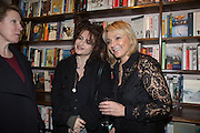 HILARY BISHOP; HELENA BONHAM-CARTER; HELEN FIELDING, Allie Esiri's The Love Book launch party , Daunt Books <br /> 83 Marylebone High Street, London. 5 February 2014
