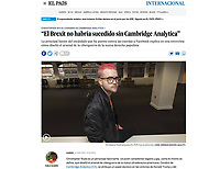 Portrait of Christopher Wylie for El País with interview by Pablo Guimón about the Cambridge Analytica scandal. London, 2018