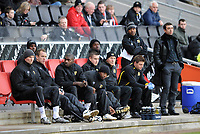 Milton Keynes Dons/Scunthorpe Coca Cola League One 06.12.08 <br /> Photo: Tim Parker Fotosports International<br /> Tore Andre Flo MK Dons 2008/09 on the bench
