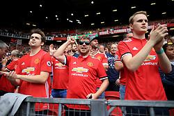 13th August 2017 - Premier League - Manchester United v West Ham United - Man Utd fans applaud their team - Photo: Simon Stacpoole / Offside.