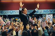 President H W Bush campaigns  in Omaha, NE..Photograph by Dennis Brack bb30