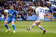 Wycombe midfielder Nick Freeman (22) blasts this chance over the bar during the EFL Sky Bet League 1 match between Peterborough United and Wycombe Wanderers at London Road, Peterborough, England on 2 March 2019.