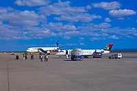 South African Airways and Air Namibia jets on the tarmac at Windhoek International Airport, Namibia