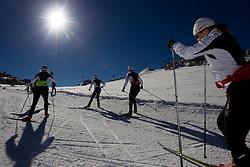 Alenka Cebasek (R) during Training camp of Slovenian Cross country Ski team on October 23, 2012 in Dachstein Getscher, Austria. (Photo By Vid Ponikvar / Sportida)