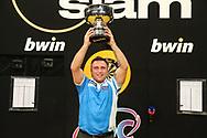 Gerwyn Price, winner of The Grand Slam of Darts during the BWIN Grand Slam of Darts at Aldersley Leisure Village, Wolverhampton, United Kingdom on 18 November 2018.