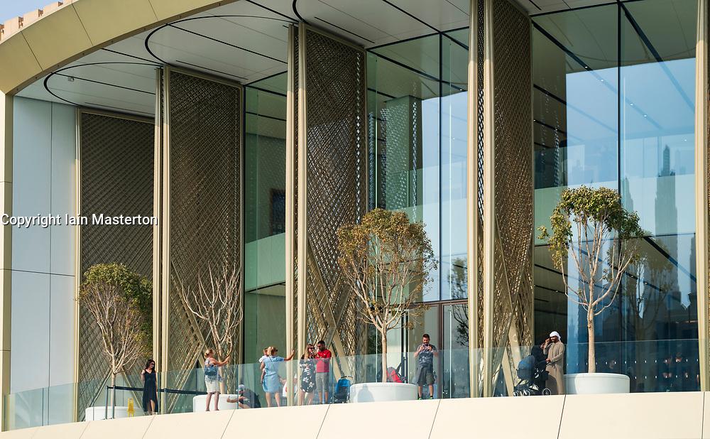 Exterior of new Apple Store at the Dubai Mall in Dubai, United Arab Emirates.