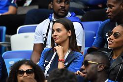 Sandra Girlfriend of Corentin Tolisso during the FIFA World Cup 2018 Round of 8 match at the Nizhny Novgorod Stadium Russia, on July 6, 2018. . Photo by Christian Liewig/ABACAPRESS.COM