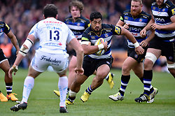 Alafoti Fa'osiliva of Bath Rugby takes on the Exeter defence - Mandatory byline: Patrick Khachfe/JMP - 07966 386802 - 17/10/2015 - RUGBY UNION - The Recreation Ground - Bath, England - Bath Rugby v Exeter Chiefs - Aviva Premiership.
