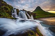 Almost every photographer going to Iceland stops at this location. There are three waterfalls available in the foreground of Kirkjufell mountain. This is the last one. I don´t remember seeing this view before so I hope I managed to do something new this time.
