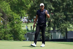 August 10, 2018 - St. Louis, Missouri, United States - Brooks Koepka waves to the crowd after putting the 9th green during the second round of the 100th PGA Championship at Bellerive Country Club. (Credit Image: © Debby Wong via ZUMA Wire)