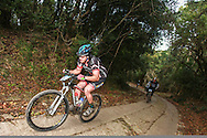 Theo Oosthuizen powers up the toughest climb of the race during day two of the Glacier Storms River Traverse mountain bike stage race held at the The Tsitsikamma Village Inn situated in Storms River Village on the Garden route, South Africa on the 6th August 2016<br /> <br /> Photo by: Oakpics.com / Dryland Event Management / SPORTZPICS<br /> <br /> <br /> {dem16gst}