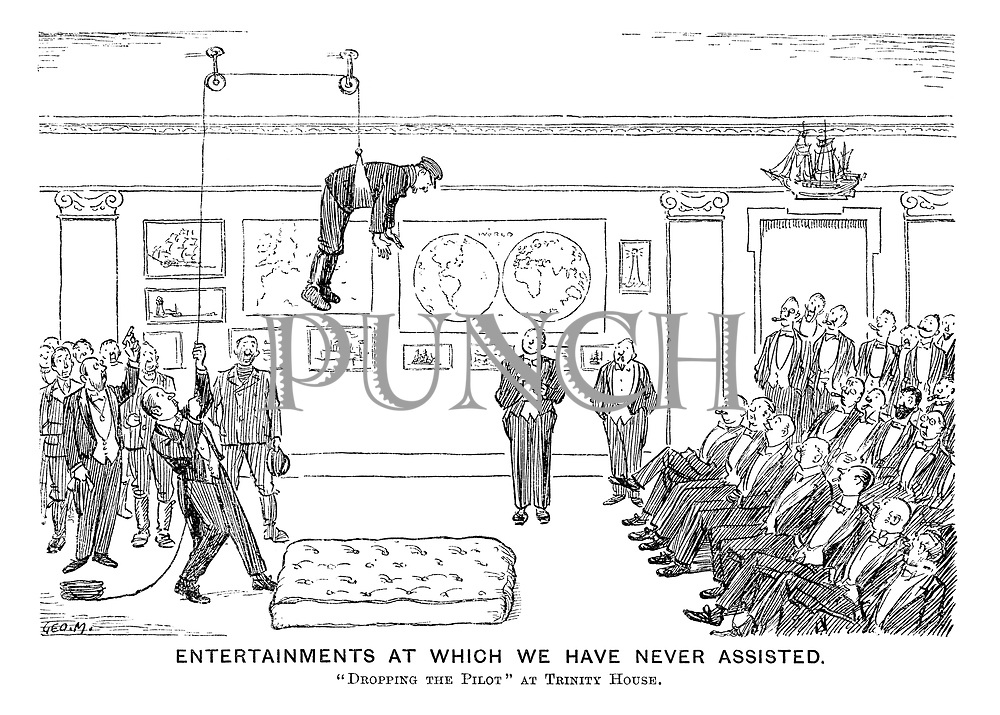 "Entertainments at Which We Have Never Assisted. ""Dropping the Pilot"" at Trinity House."