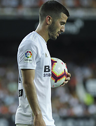 August 20, 2018 - Gaya of Valencia and in action during the spanish league, La Liga, football match between ValenciaCF and Atletico de Madrid on August 20, 2018 at Mestalla stadium in Valencia, Spain. (Credit Image: © AFP7 via ZUMA Wire)