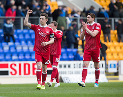 Aberdeen's Ryan Jack at the end. St Johnstone 1 v 2 Aberdeen. SPFL Ladbrokes Premiership game played 15/4/2017 at St Johnstone's home ground, McDiarmid Park.
