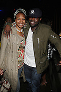 l to r: Mahmunah and Black Thought at The ROOTS Present the Jam produced by Jill Newman held at The Highline Ballroom on May 25, 2009