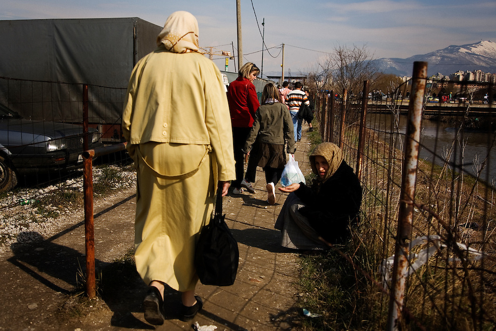 """In the massive """"car market"""" on the outskirts of Sarajevo, Bosnia and Herzegovina, March 15, 2009."""