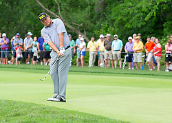 June 1, 2018 - Dublin, OH, U.S. - DUBLIN, OH - JUNE 01: Jason Dufner chips the ball during the second round of the Memorial Tournament at Muirfield Village Golf Club in Dublin, Ohio on June 01, 2018.(Photo by Jason Mowry/Icon Sportswire) (Credit Image: © Jason Mowry/Icon SMI via ZUMA Press)