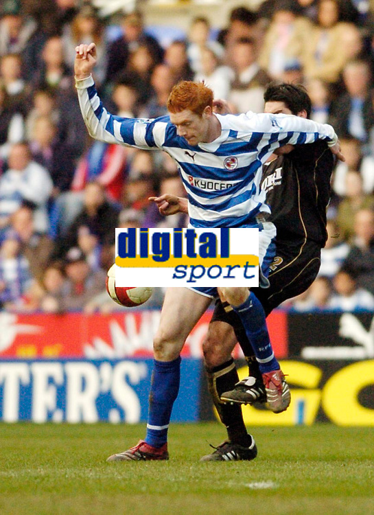Photo: Leigh Quinnell.<br /> Reading v Portsmouth. The Barclays Premiership. 17/03/2007. Readings Dave Kitson battles with Portsmouths Richard Hughes.