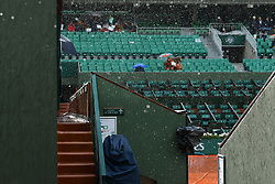 June 6, 2017 - Paris, FRANCE - storm over the Court Philippe Chatrier (Credit Image: © Panoramic via ZUMA Press)