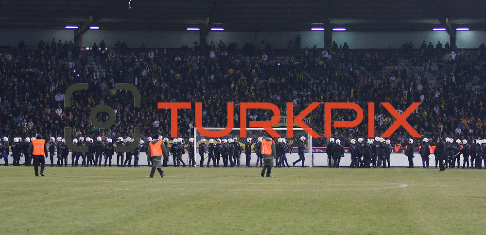 MKE Ankaragucu's and Besiktas's during their Turkish Superleague soccer match Ankaragucu between Besiktas at the 19 Mayis stadium in Ankara Turkey on Sunday 08 January 2012. Photo by TURKPIX
