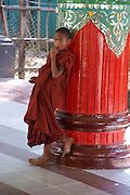 Myanmar Bago Shwemawdaw Paya (Golden God Temple) Children in the temple
