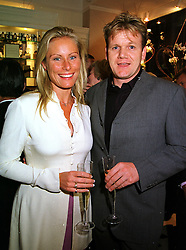 MISS BUMBLE FLEMING and top chef GORDON RAMSAY, at a party in London on 21st September 1999.MWO 14