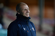 Scunthorpe United manager Neil Cox during the EFL Sky Bet League 2 match between Scunthorpe United and Bolton Wanderers at the Sands Venue Stadium, Scunthorpe, England on 24 November 2020.