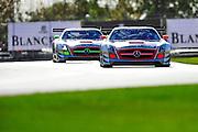 2012 FIA GT1 World Championship.Donington Park, Leicestershire, UK.27th - 30th September 2012.Marc Basseng / Markus Winkelhock, Mercedes-Benz SLS AMG GT3..World Copyright: Jamey Price/LAT Photographic.ref: Digital Image Donington_FIAGT1-19067