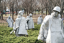The Korean Veterans Memorial in Washington DC in the United States. From a series of travel photos in the United States. Photo date: Thursday, March 29, 2018. Photo credit should read: Richard Gray/EMPICS