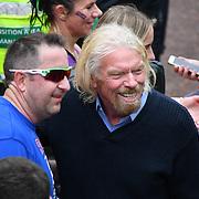 London, England, UK. 28 April 2019. Richard Branson attend the Virgin Money London Marathon at Pall Mall.