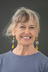 """Edinburgh, Scotland, UK; 17 August, 2018. Pictured; Helen Bellany, widow of artist John Bellany, talks about the mystery, poetry and passion that was at the core of their life together in  her book """"The Restless Wave""""."""