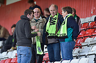 Forest Green Rovers Fans at half time during the EFL Sky Bet League 2 match between Stevenage and Forest Green Rovers at the Lamex Stadium, Stevenage, England on 21 October 2017. Photo by Adam Rivers.