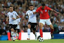 Costa Rica's Ronald Matarrita (left) and England's Ruben Loftus-Cheek (right) battle for the ball during the International Friendly match at Elland Road, Leeds.