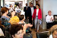 Bialystok, 06.07.2020. Podczas wizyty w Bialymstoku Marlena Malag Minister Rodziny, Pracy i Polityki Spolecznej spotkala sie z przedstawicielami organizacji pozarzadowych, realizujacych program Ministerstwa Rodziny, Pracy i Polityki Spolecznej ASOS Edycja 2020 N/z Marlena Malag fot Michal Kosc / AGENCJA WSCHOD