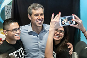 Democratic presidential hopeful Beto O'Rourke poses for photos with supporters during a campaign stop at Gilligan's Restaurant April 13, 2019 in Summerville, South Carolina. During the event in the suburb of Charleston, Beto picked up the endorsement of South Carolina Rep. Marvin Pendarvis.