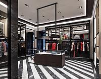 Интерьерная фотосъемка монобрендового бутика Moncler в Киеве.
