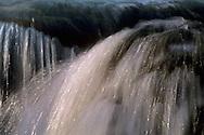 Detail of cascade above Eagle Falls, above Emerald Bay, Lake Tahoe, California