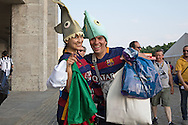 Barcelona fans before the Champions League Final between Juventus FC and FC Barcelona at the Olympiastadion, Berlin, Germany on 6 June 2015. Photo by Phil Duncan.