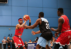 Justin Gray of Bristol Flyers prepaers to shoot - Photo mandatory by-line: Arron Gent/JMP - 28/04/2019 - BASKETBALL - Surrey Sports Park - Guildford, England - Surrey Scorchers v Bristol Flyers - British Basketball League Championship