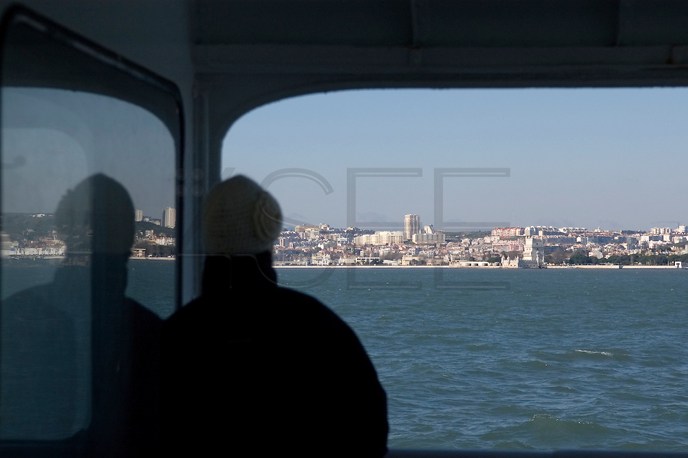 Belem's Tower and surroundings as seen from the boats that cross Tagus river. The area of Belem's Tower attracts lots of visitors, both tourists and locals, because of its beauty and peacefulness. Belem's Tower was built in the fifteenth century (1514-1520) as a military fortification. It was recognized as a UNESCO World Heritage Site in 1983.