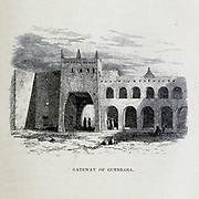 Gateway of Guerrara [El Guerrara, Algeria] From the Book ' Great Sahara: wanderings south of the Atlas Mountains. ' by Tristram, H. B. (Henry Baker),  Published by J. Murray in London in 1860